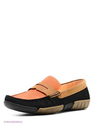 Мокасины Vitacci. Цвет: оранжевый, черный, темно-бежевый