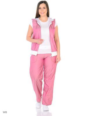 Спортивный костюм Bars. Цвет: розовый