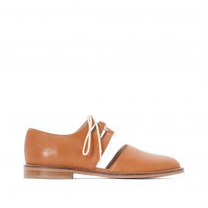 Ботинки-дерби кожаные Dairon JONAK. Цвет: коньячный,черный
