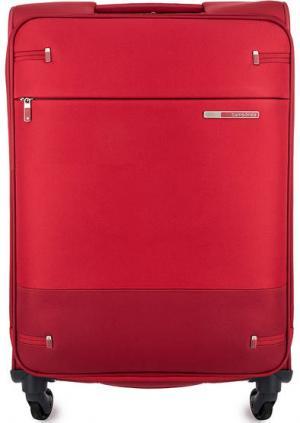 Красный чемодан на колесах Samsonite. Цвет: красный