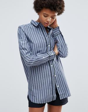 Ganni Рубашка в полоску Sophie. Цвет: синий