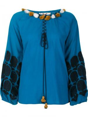 Блузка Coco Figue. Цвет: синий