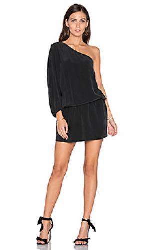 Платье с одним плечом ashton Joie. Цвет: черный