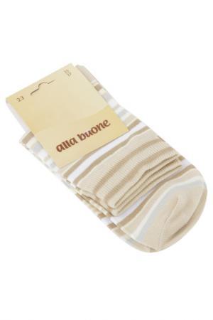 Носки ALLA BUONE. Цвет: кремовый