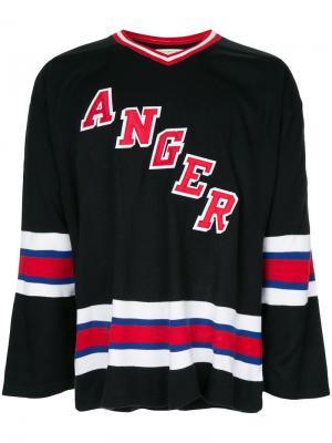 Толстовка с вышивкой Anger Mr. Completely. Цвет: чёрный