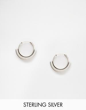 Fashionology Серебряные серьги-кольца 12 мм. Цвет: серебро