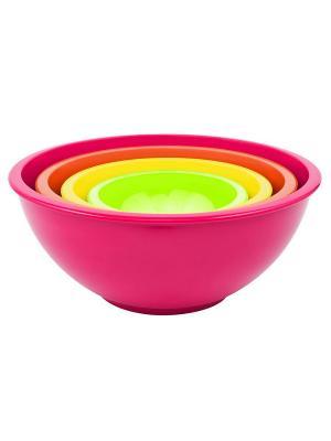 Набор мисок color 4 малиновый разноцветный шт. Zak!designs. Цвет: желтый, зеленый, малиновый, оранжевый