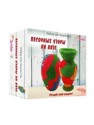 Набор для творчества Песочные узоры на вазе Санта Лючия. Цвет: темно-бежевый