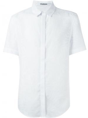 Рубашка с короткими рукавами Chalayan. Цвет: белый