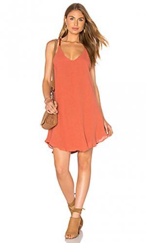 Платье с круглым подолом Lucca Couture. Цвет: тёмно-оранжевый
