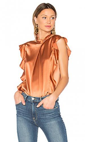 Блузка sharon Marissa Webb. Цвет: металлический бронзовый