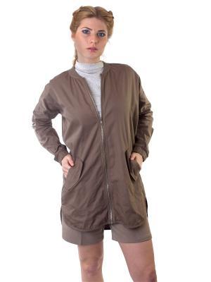 Куртка Minimum. Цвет: коричневый