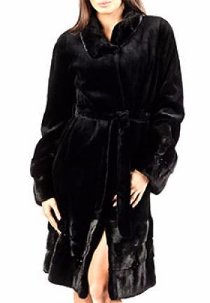 Пальто мех BELLINI. Цвет: черный