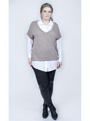 Пуловер SPARADA. Цвет: бежевый