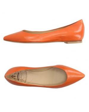 Балетки L'ARIANNA. Цвет: оранжевый