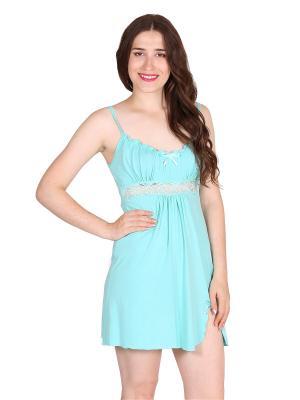 Ночная сорочка Flip. Цвет: светло-зеленый, светло-голубой
