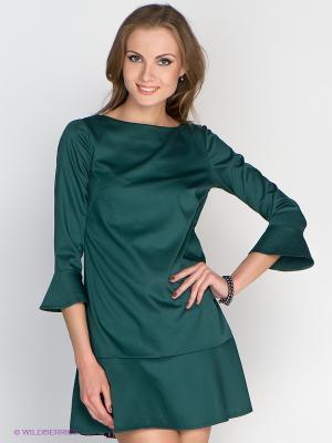 Платье Satin. Цвет: зеленый, фиолетовый