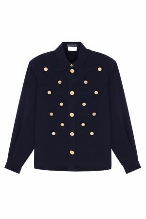 Однотонная блузка Louis Feraud Vintage. Цвет: черный