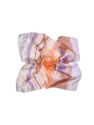 Платок (шелк) ГАНГ. Цвет: сиреневый, фиолетовый, бежевый