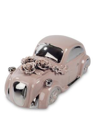 Статуэтка Ретро автомобиль Cervena kostka. Цвет: розовый, серебристый