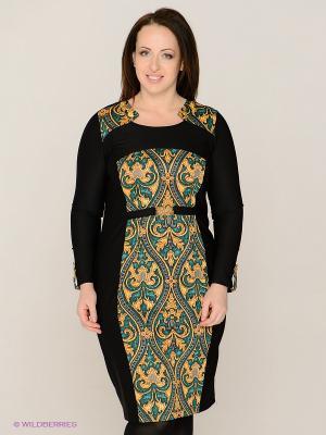 Платье MAFUERTA. Цвет: черный, желтый, серый, синий