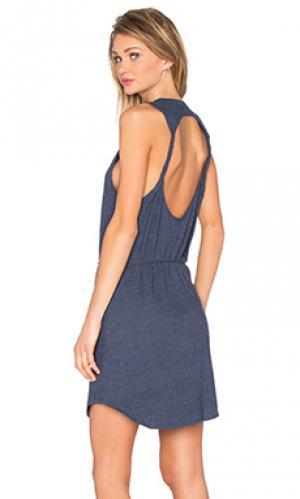 Мини платье с вырезом и переплетом сзади Chaser. Цвет: синий