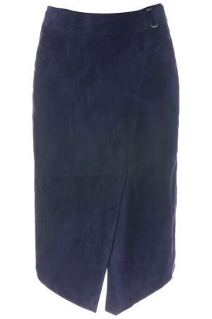 Кожаная юбка Madeleine. Цвет: nachtblau