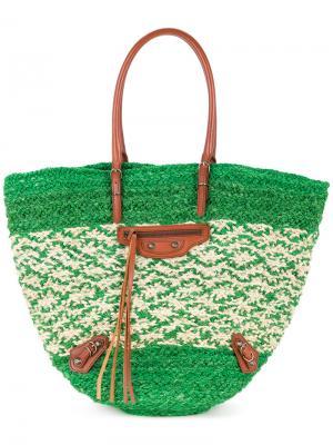Сумка-мешок Raffia Balenciaga Vintage. Цвет: зелёный