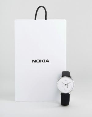 Nokia Черно-белые умные часы HWA01 36 мм. Цвет: черный