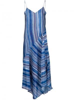 Полосатое платье на тонких лямках Tess Giberson. Цвет: синий