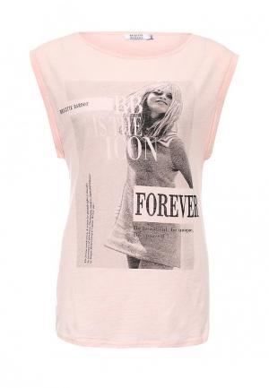 Футболка Brigitte Bardot. Цвет: розовый