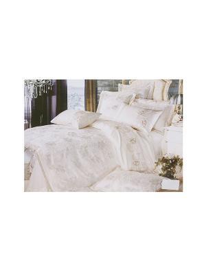 Комплект постельного белья 4 предмета HAMRAN. Цвет: белый