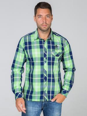 Рубашка John Jeniford. Цвет: зеленый