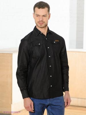 Рубашка HYDROPONIC. Цвет: черный