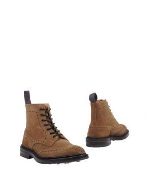Полусапоги и высокие ботинки TRICKER'S. Цвет: хаки