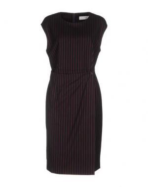 Платье до колена WEILI ZHENG. Цвет: темно-синий