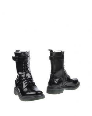 Полусапоги и высокие ботинки LE QARANT. Цвет: черный