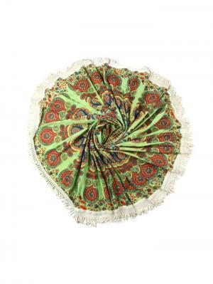 Покрывало круглое диаметр 220 см ETHNIC CHIC. Цвет: салатовый