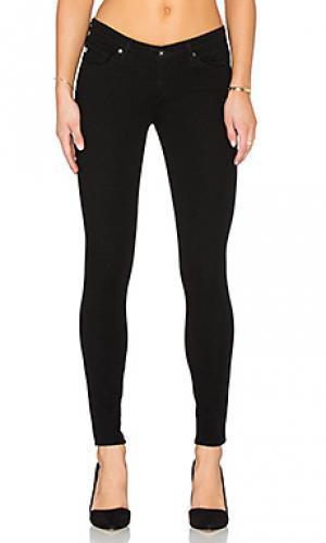 Укороченные джинсы the legging ankle AG Adriano Goldschmied. Цвет: черный