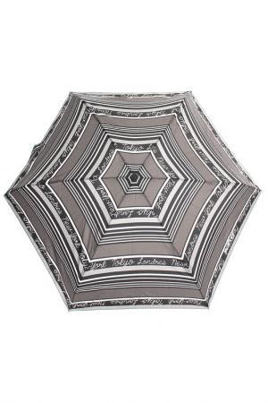 Зонт Ультратонкий Isotoner. Цвет: серый, полоска