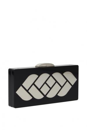 Клатч с металлом NATALIA GART. Цвет: черный