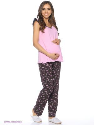 Комплект для беременных и кормящих (майка+брюки) FEST. Цвет: розовый, коричневый