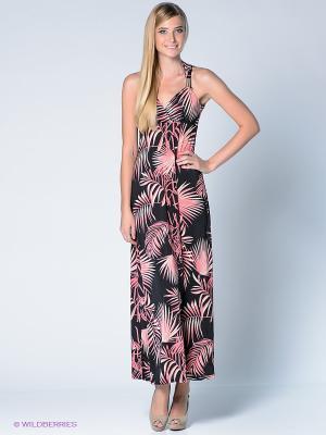 Платье New Look. Цвет: черный, розовый, кремовый