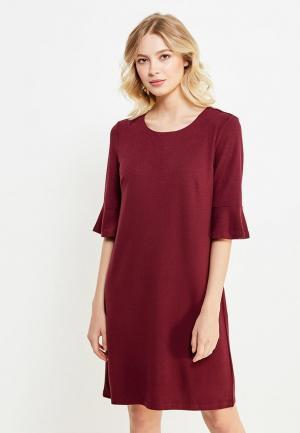 Платье Sela. Цвет: бордовый