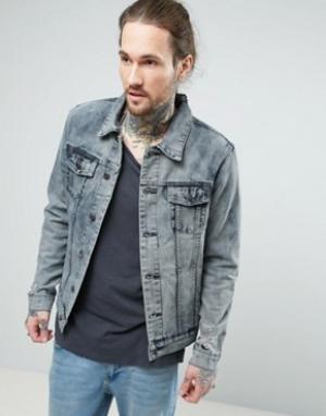 Always Rare Джинсовая куртка с эффектом кислотной стирки. Цвет: синий