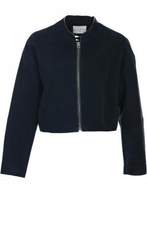 Замшевая куртка Sandro. Цвет: синий