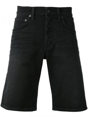 Джинсовые шорты Edwin. Цвет: чёрный