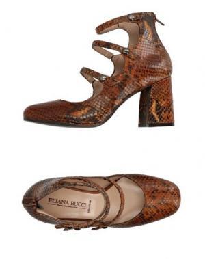 Туфли ELIANA BUCCI. Цвет: коричневый
