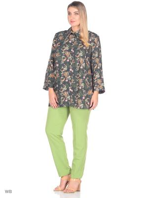 Блузка Eva Graffova. Цвет: зеленый