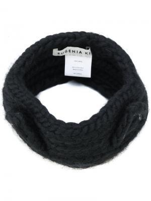 Трикотажная повязка для волос Eugenia Kim. Цвет: чёрный